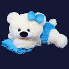 Плюшевая мишка малышка(мягкая игрушка)  45 см белый с голубым Алина, фото 2