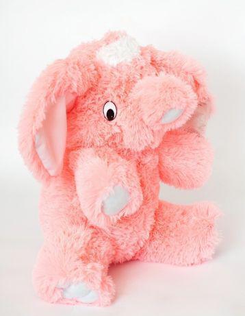 Плюшевый слон (мягкая игрушка) 55 см розовый Алина