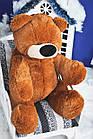 Плюшевая игрушка медведь Бублик 95 см коричневый, фото 3