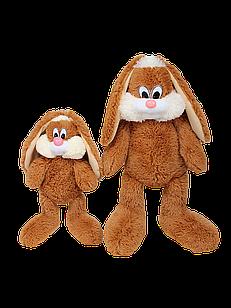 Плюшевая зайчик несквик(мягкая игрушка) 50 см коричневый Алина