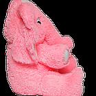 Мягкая игрушка Алина Слон 65 см розовый, фото 4