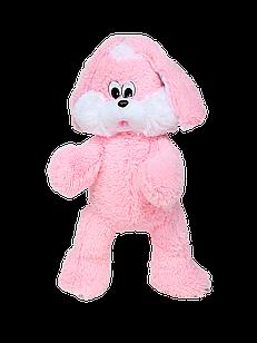 Мягкая игрушка Алина Зайка Снежок 90 см розовый