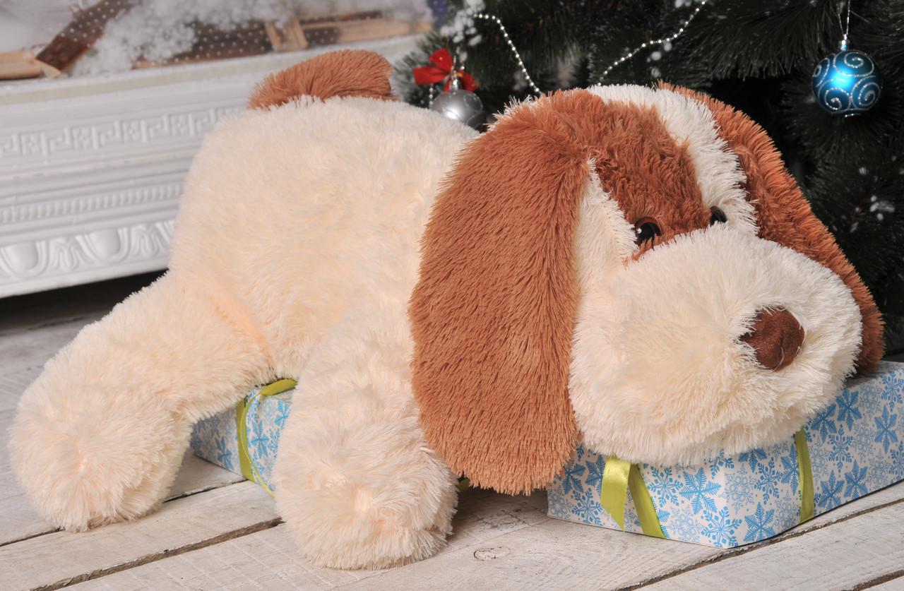 Собачка Алина Шарик 75 см персиковый