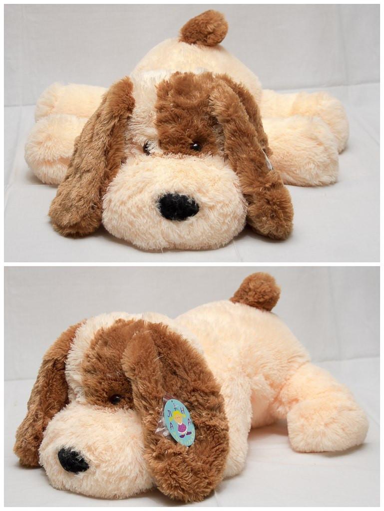 Плюшевая собачка Шарик(мягкая игрушка)  110 см персиковый  Алина