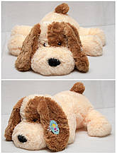 Плюшева собачка Кулька(м'яка іграшка) 110 см персиковий Аліна