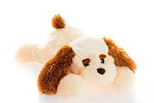 Плюшева собачка(м'яка іграшка) Тузик 50 см персиковий Аліна