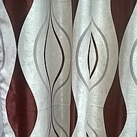 Тканина блекаут хвиля коричнева