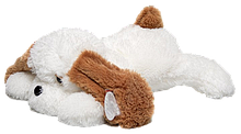 М'яка іграшка Аліна Собака Тузік 90 см білий
