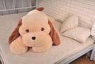 Плюшевая собачка Тукзик(мягкая игрушка) 140 см персиковый Алина, фото 2