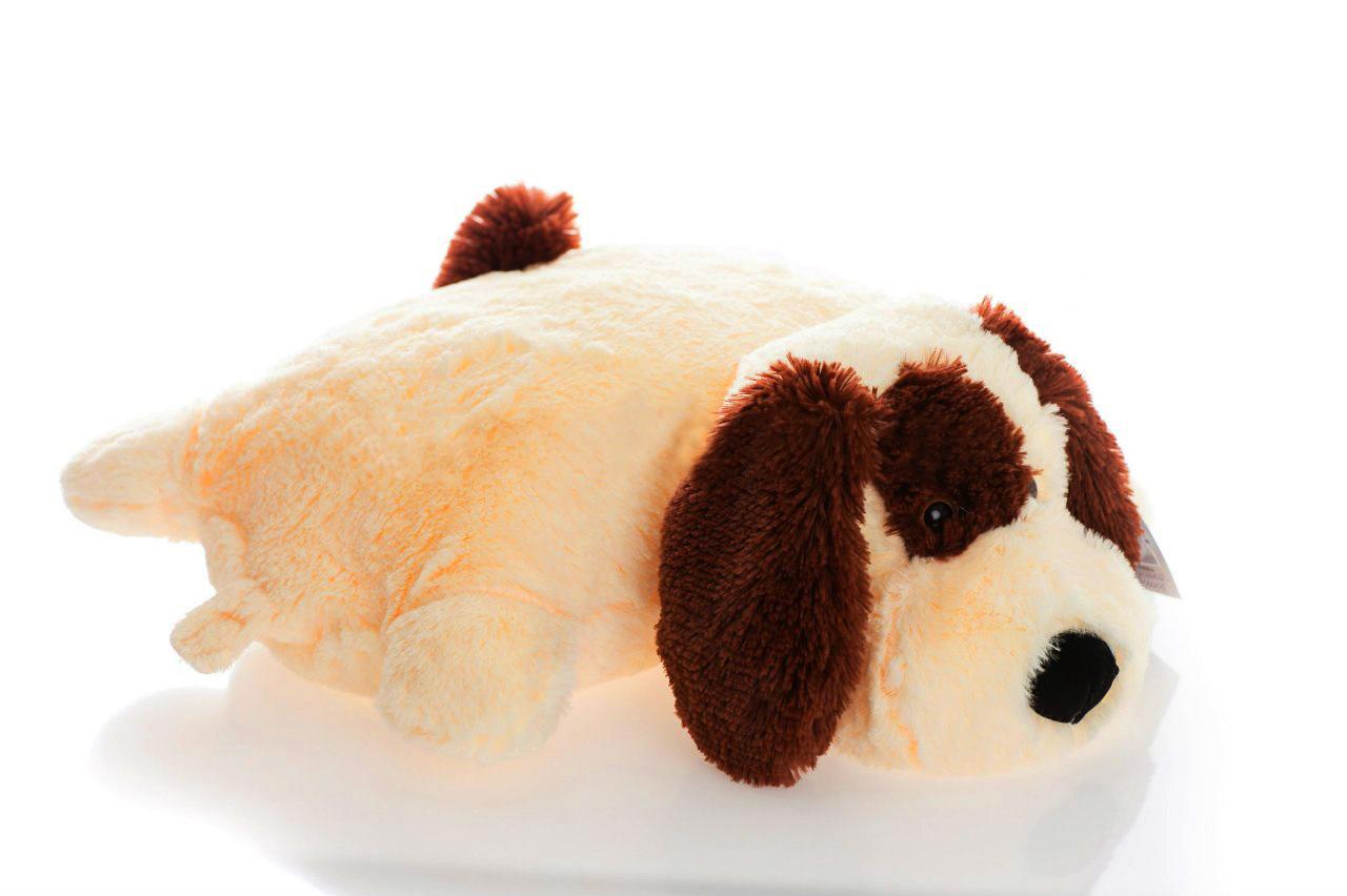 Подушка Алина собачка Шарик 55 см персиковый