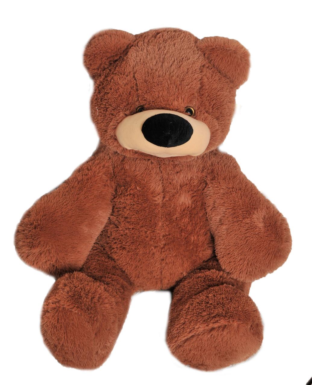 Мягкая игрушка медведь  Бублик 77 см коричневый
