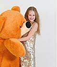 Большая мягкая игрушка Медведь Бублик 180 см медовый, фото 5