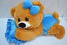 Алина Плюшевая мишка малышка 45 см медовая с голубым, фото 3