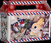 "Упаковка новогодняя ""Мини-Саквояж Зайчик Листівка"" для сладостей 300 г"