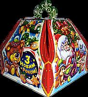 """Новогодняя упаковка """"Скринька червона"""" для подарков 300-400г"""