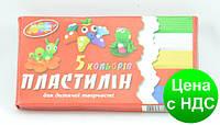 """Пластилин """"Колорит"""" 105 гр/5 цв."""