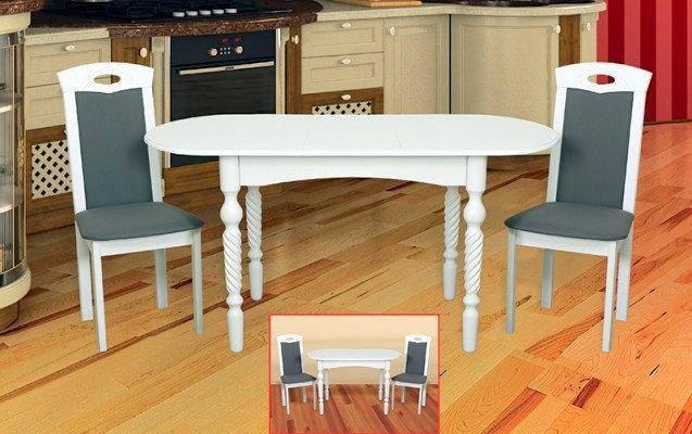 Стол раскладной Бруно белый, фото 2