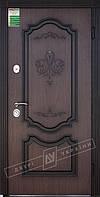 """Двері вхідні зовнішні """"Білоруський стандарт Престиж-04 НДП-ВТ орех светлый DE-1880-3 ,  """"2040*880мм"""