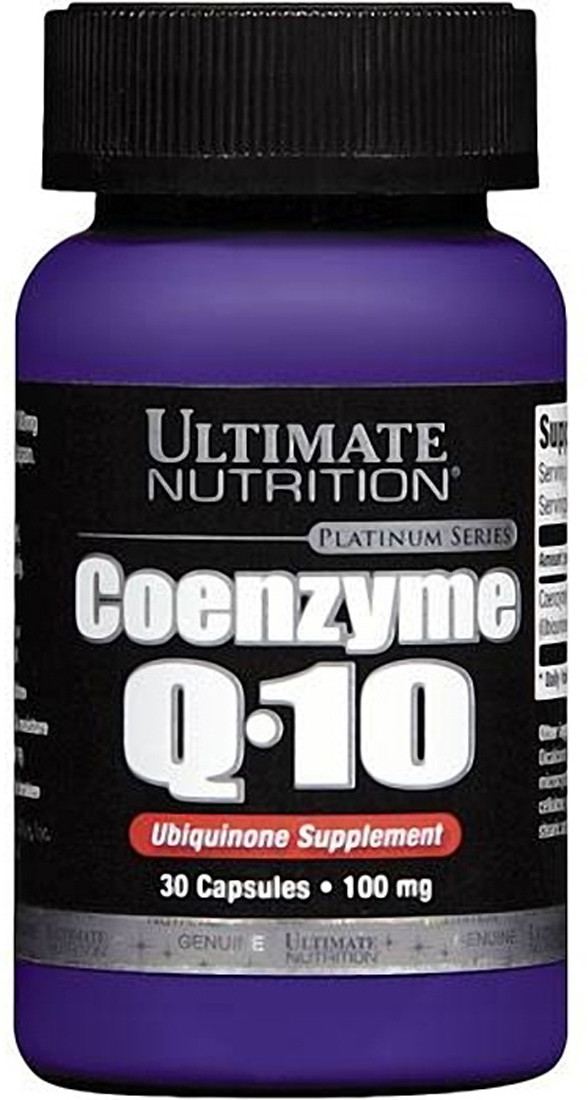 Коензим Ultimate Nutrition Coenzyme Q-10 100 mg 30 caps, Ультимат Коензим Ку 10 100 мг 30 капсул