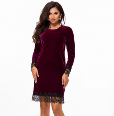 f589d92f13e Бархатное вечернее платье с кружевом 823743 - СТИЛЬНАЯ ДЕВУШКА интернет  магазин модной женской одежды в Киеве