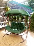 Качеля кокон зеленая трехместная, фото 6