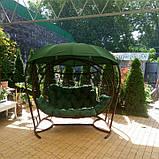 Качеля кокон зеленая трехместная, фото 5