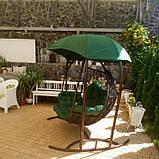 Качеля кокон зеленая трехместная, фото 4