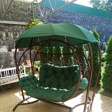 Качеля кокон зеленая трехместная