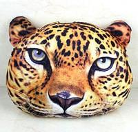Подушка на подарок леопард 3D