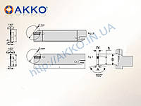 Сменный отрезной нож AKL-I-32-4 под  пластину DGN 30 AKKO