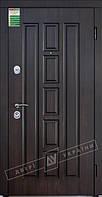 """Двері вхідні внутрішні """"Білоруський стандарт Квадро-02 НП-ВТ орех темный DE-98037-10,  """"2040*880мм"""