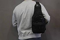 Тактическая - штурмовая универсальная сумка на 6-7 литров с системой M.O.L.L.E Black (095 черная), фото 3