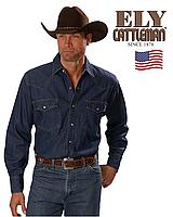 Мужская джинсовая рубашка Ely&Walker®(США) (XL) /100% хлопок /Оригинал из США