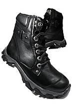 Подростковые ботинки из натуральной кожи черные.Mida 3473, фото 3
