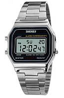 Мужские наручные часы Skmei 1123 Popular. Электронные часы с подсветкой