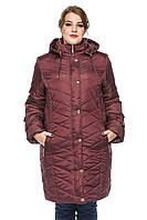 Женская зимняя куртка Kariant Инесса 58 Бордо, фото 1