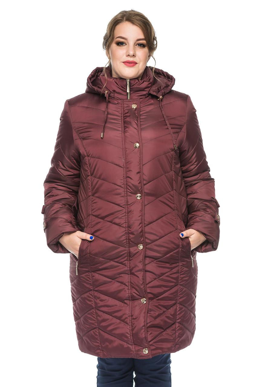 Женская зимняя куртка Kariant Инесса 58 Бордо