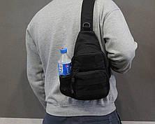 Тактическая, штурмовая, военная, универсальная, городская сумка на 5-6 литров с системой M.O.L.L.E s4 (черная), фото 2
