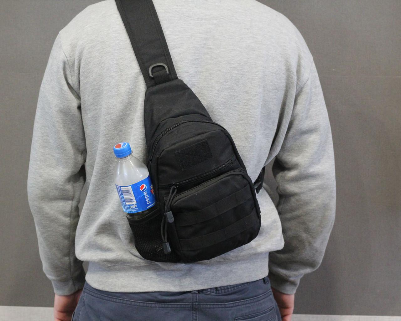 Тактическая, штурмовая, военная, универсальная, городская сумка на 5-6 литров с системой M.O.L.L.E s4 (черная)