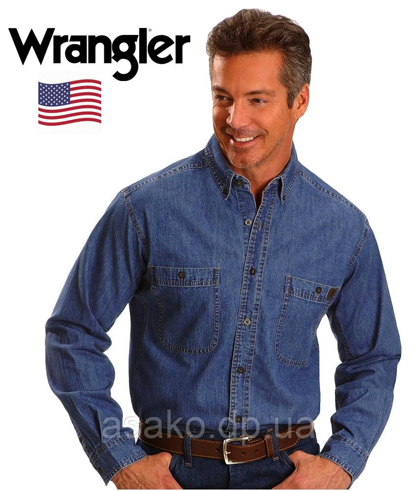 e9135259e76 Мужская джинсовая рубашка Wrangler®(США) (L)  100% хлопок  Оригинал ...