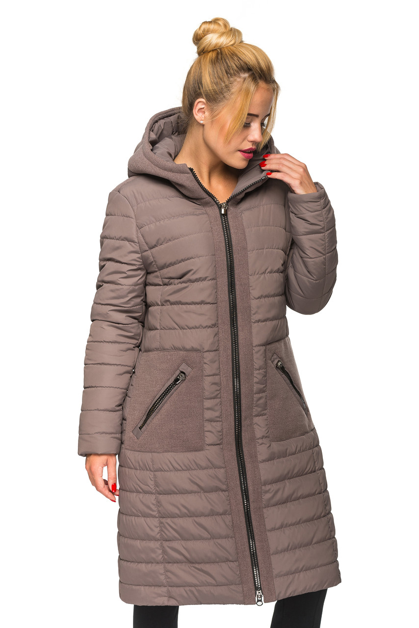 Женская зимняя куртка Kariant Эмма 44 Мокко