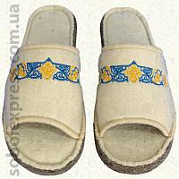 Тапочки войлочные с вышивкой (40-42) 2462-02