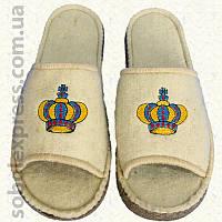 Тапочки войлочные с вышивкой (40-42) 2462-03