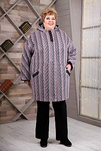 Пальто В-1087 Maila/1 Тон 52, Очень большие размеры 64-78