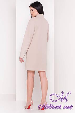 Женское красивое пальто с мехом на карманах (р. S, M, L) арт. Этель 4494 - 33818, фото 2