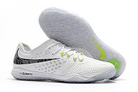 Футзалки (бампы) Nike Zoom Hypervenom PhantomX III PRO IC White/Metallic Cool Grey/Volt, фото 1