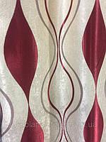 Тканина блекаут хвиля бордо