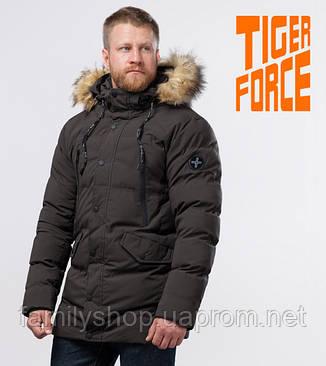 Tiger Force 72160 | куртка зимняя мужская теплая кофе, фото 2