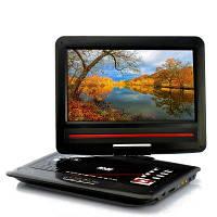 Портативный 12,1-дюймовый экранный DVD-плеер - функция копирования, 270-градусный поворотный экран