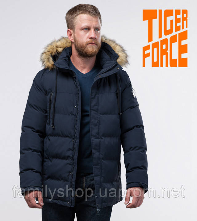 Tiger Force 70450   мужская зимняя куртка темно-синяя